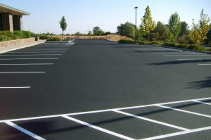 Perfectly paved parking lot